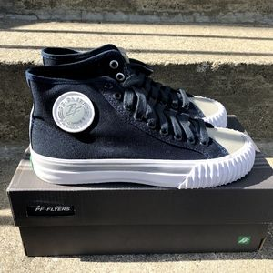 PF flyers (blue/gray/white)